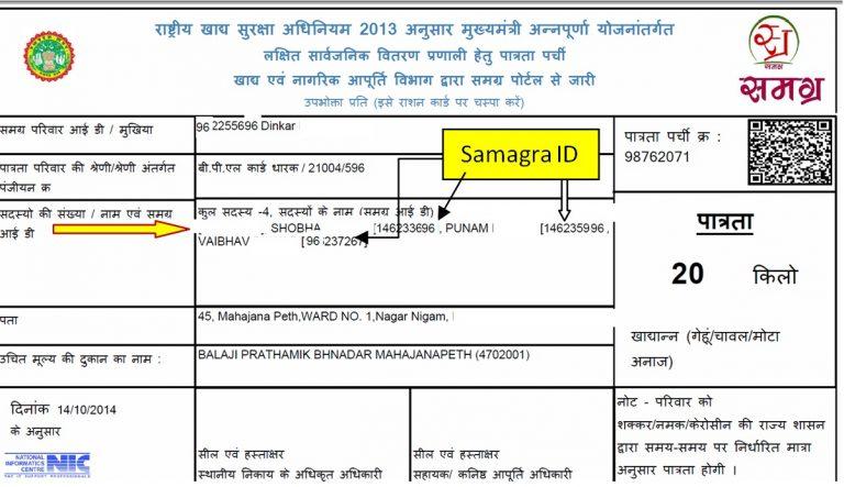 samagra member id
